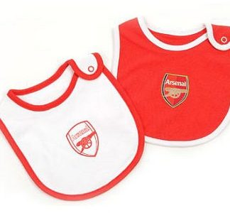 new styles 18e6d 14ae7 ARSENAL BABY BIBS SET OF 2